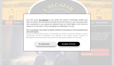 Site internet de Cinema l'Alcazar