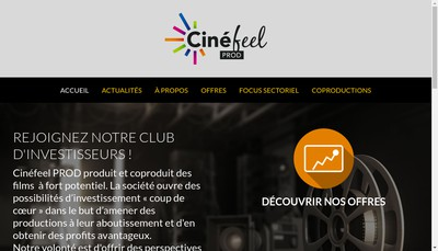 Site internet de Cinefeel 3