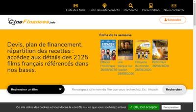 Site internet de Cinefinances Info