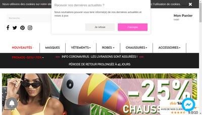 Site internet de Cinelle Boutique