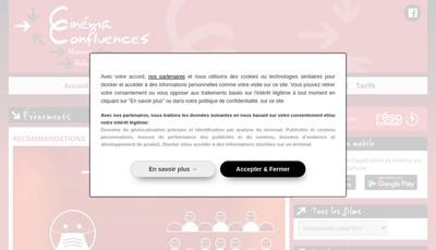Site internet de Cinema Confluences