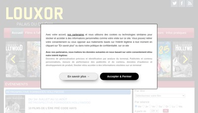 Site internet de Cinelouxor