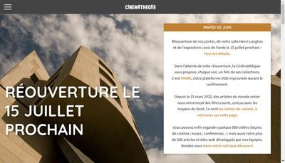Site internet de Cinematheque Francaise
