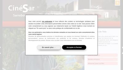 Site internet de Cinesar