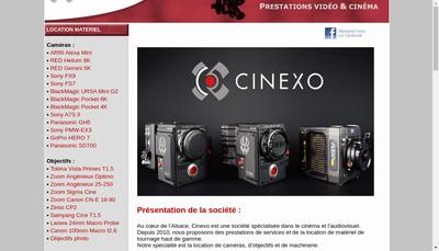 Site internet de Cinexo Location