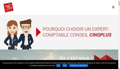Site internet de Cinq Plus Expertise Comptable