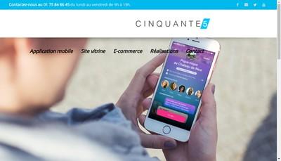 Site internet de Agence Cinquante5