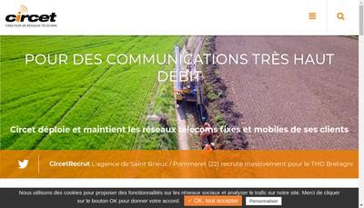 Site internet de Circet Groupe