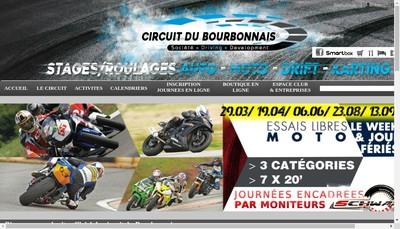 Site internet de Circuit du Bourbonnais