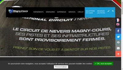 Site internet de SA d'Economie Mixte Sportive du Circuit de Nevers Magny-Cours
