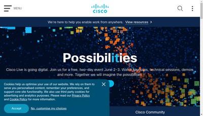 Site internet de Cisco