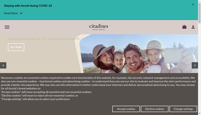 Site internet de Citadines Euro