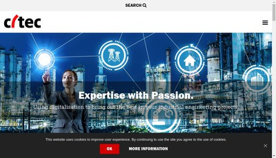 Site internet de Citec Engineering France