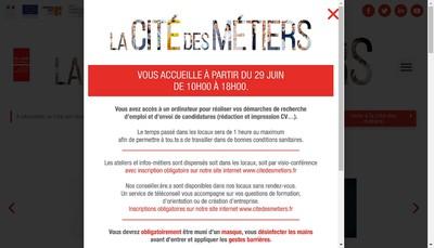Site internet de Cite des Metiers de Marseille Provence