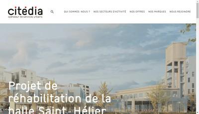 Site internet de Citedia Metropole