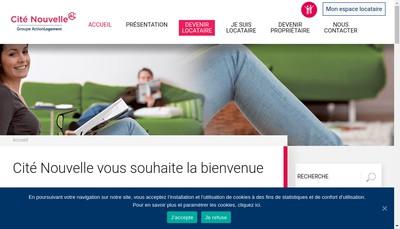 Site internet de Cite Nouvelle