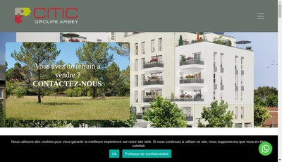 Site internet de Arbey Immobilier