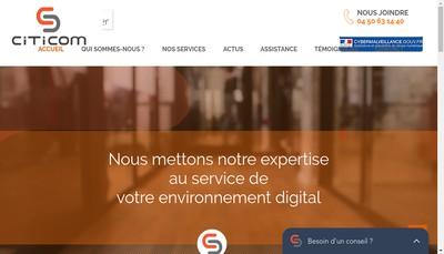 Site internet de Citicom