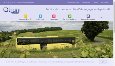 Site internet de Citram Charente