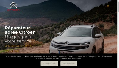 Site internet de Car Citroen Asnieres Reparation