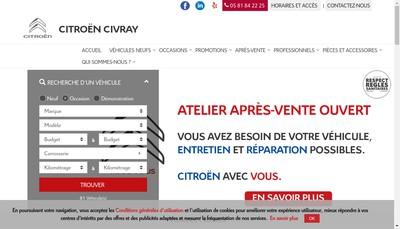 Site internet de Vienne Sud-Automobiles