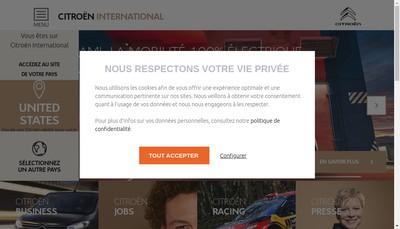 Site internet de Automobiles Citroen