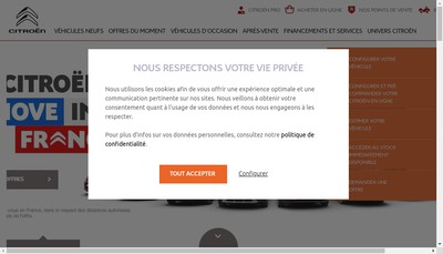 Site internet de Citroen et Ds Gemy le Mans