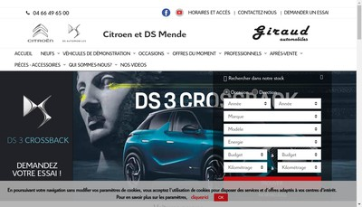 Site internet de Giraud Mende