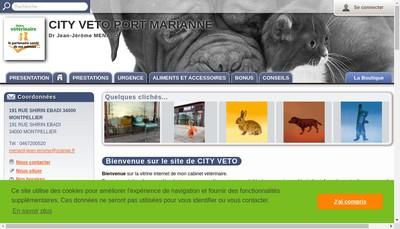 Site internet de City Veto Port Marianne SELARL de Veterinaire