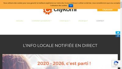 Site internet de Citykomi