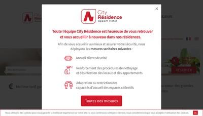 Site internet de City Residence Marseille