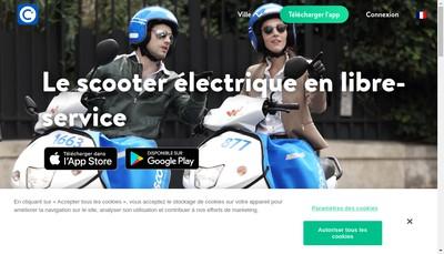 Site internet de Cityscoot