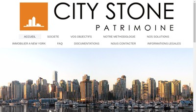 Site internet de City Stone