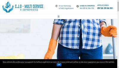 Site internet de CJO Multiservice et Coproprietes