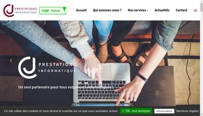 Site internet de Cj Prestations