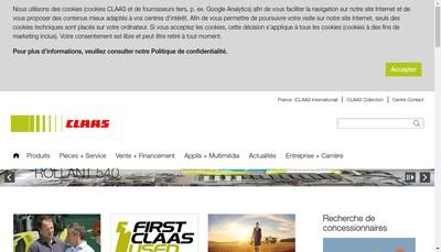 Site internet de Claas France Holding