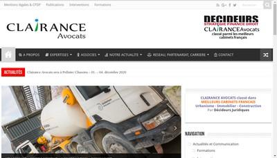 Site internet de Clairance Avocats