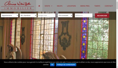 Site internet de Claire Waida Immobilier