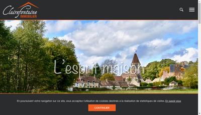 Site internet de Clairefontaine Proprietes