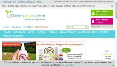 Site internet de Clairenature