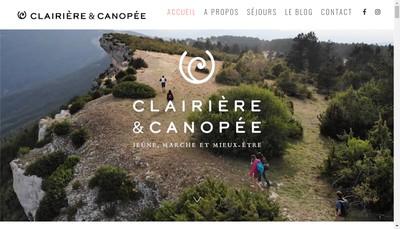 Site internet de Clairiere et Canopee