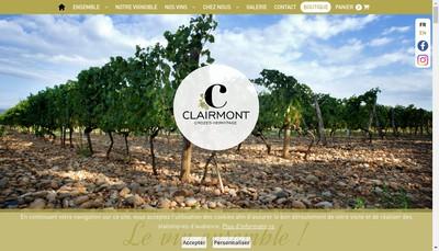 Site internet de SCV Cave des Clairmonts