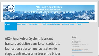 Site internet de ARS (Anti Retour System)
