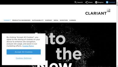 Site internet de Clariant Se Succursale France
