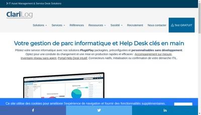 Site internet de Clarilog France