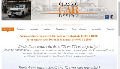 Site internet de Classic Car Design