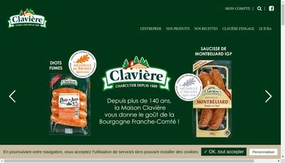Site internet de Claviere Viandes SA