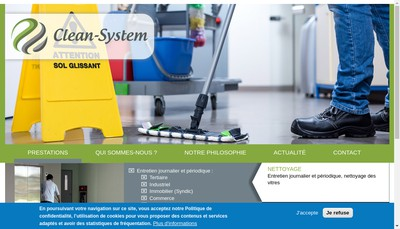 Site internet de Clean-System