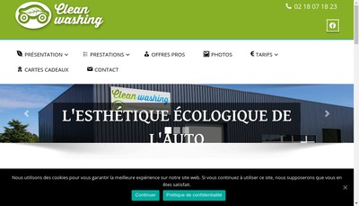 Site internet de Clean Washing