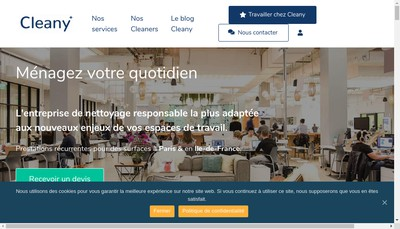 Site internet de Cleany